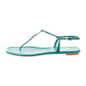 Prada 9 Thong Leather Sandals